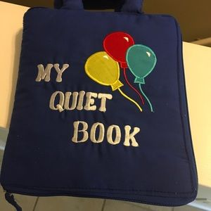 Toddler Hands on Quiet Book with 8 pages